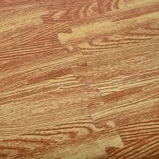HOMCOM Soft Wood Grain Foam Interlocking Floor Mats 72 Square Feet Waterproof Exercise Workout Mat Kid
