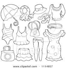 Ideas Of Printable Summer Clothes Coloring Pages In Template Sample