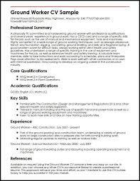 Ground Worker CV Sample