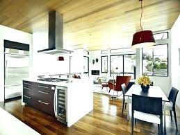Kitchen Dining Room Floor Plans Open Concept And Living