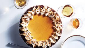 Pumpkin Cheesecake Layer Pie Recipe by Pumpkin Cheesecake Pie With Gingersnap Crust Recipe Martha Stewart