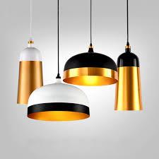 retro industrie pendelleuchte schwarz gold metall antike anhänger lenschirm für bar cafe esszimmer