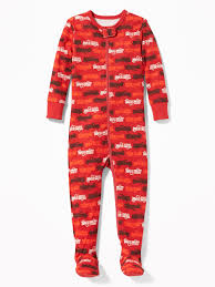 Fire Truck-Print Footed Sleeper For Toddler & Baby | Old Navy