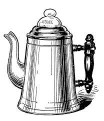 Vintage Kitchen Clip Art Tea Kettle And Coffee Pots