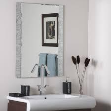 Frameless Bathroom Mirrors Sydney by Amazon Com Decor Wonderland Frameless Molten Wall Mirror Home