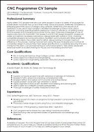 Cnc Machinist Resume Samples Free Programmer Images Template Sample