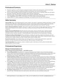 Customer Service Professional Resume New Summary Examples For Awesome Fresh