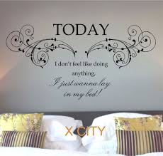 Wall Mural Decals Canada by Bruno Mars The Lazy Song Lyrics Wall Sticker Wall Art Home Decor