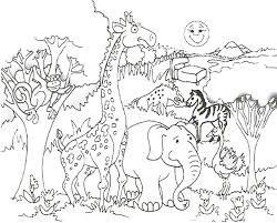 Free Printable Jungle Animal Coloring Pages Redcabworcester