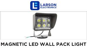 magnetic mount 60 watt low profile led wall pack light with glare