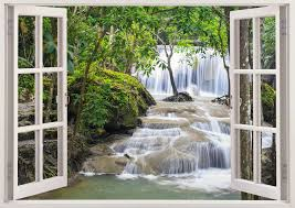 Waterfall Wall Art 3D Window Vinyl Decal For