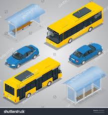 Bus Stop City Bus Sedan Car Stock Vector (Royalty Free) 334220669 ...