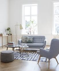 Hubsch Light Grey Danish 2 Seater Sofa | Danish Design By ...