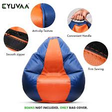 EYUVAA LABEL XXXL Bean Bag Cover Without Beans Extra Large ... X Rocker 132 Round Extra Large Shiny Bean Bag Multiple Colors Chair Big Inflatable Seat Bearing 220lb For Adult Football Sport L White And Azure Cover Made In Eco Leather Folding Chairs Plastic Wooden Fabric Metal Shop Asher Faux Suede 65foot Lounge Beanbag By Christopher Bed Beans Funky Sports Adults Cordaroys Convertible Bags Theres A Bed Inside Full Fashion Sofa Air Soccar Self Types Of Its Hippie History June 2019