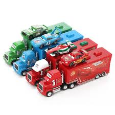 100 Lightning Mcqueen Truck Disney Pixar Cars 2 Toys 2pcs McQueen City Construction