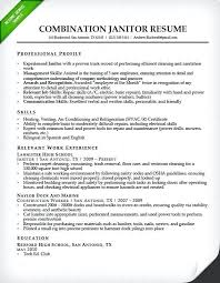 Resume Examples For Cleaning Services Feat Janitor Combination Sample To Make Remarkable Templates