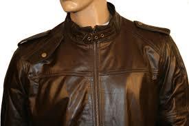 rovigo mens leather jacket brown leather jacket mens leather