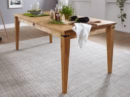 esstisch massivholz tisch torino 180x90 cm breit pinie nordica eichefarbig gebeizt geölt