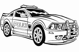 Transformers Police Car Coloring Page