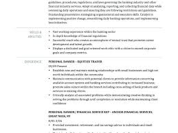 Personal Banker Resumes Download Resume Objective Examples