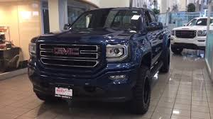 2018 Custom Sierra 1500 SLE Rough Country Lift Fuel Wheels Blue ...