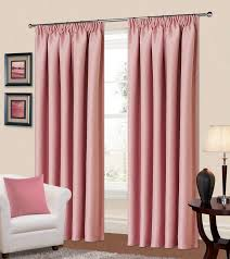 Living Room Curtain Ideas Uk by Plain Baby Pink Colour Thermal Blackout Bedroom Livingroom
