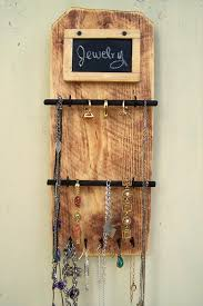 Diy Pallet Jewelry Reclaimed Organizer