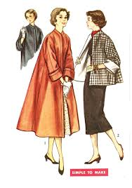 simplicity 4191 misses u0027 vintage 1950s swing coat or topper jacket