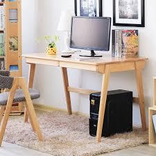 Japanese simple solid beech wood puter desk 1 m 1 2 m log color