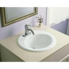 kohler cimarron drop in vitreous china bathroom sink in white