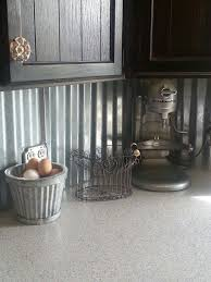 Rustic Galvanized Tin Back Splash I Love This