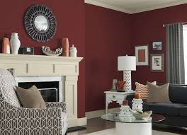 Red Living Room Ideas Pictures by How To Paint A Brick Fireplace Red Color Envelopes And Modern