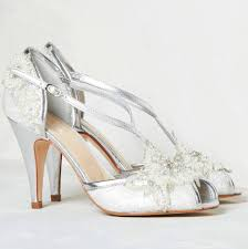 Awesome Silver High Heels for Wedding
