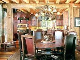 Rustic Dining Room Decorating Ideas Table Centerpieces Christmas Decor