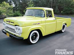 1960 Ford F-100 - Hot Rod Network Frankenford 1960 Ford F100 With A Caterpillar Diesel Engine Swap 427 V8 Truck This Is Which Flickr My Classic Garage F1 Street Legens Hot Rods The Sema Show 2016 Youtube Classics For Sale On Autotrader F600 Covers That Classiccarscom Curbside F250 Styleside Tonka Cookees Drivein Cruise Night June 2010 Big Window Parts