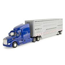 Peterbilt 1:32 579 Semi W/ Livestock Trailer/Truck/Lorry Toy/Kids ...