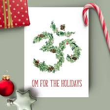 OM For The Holidays Yoga Holiday Card Blank Inside
