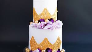 Purple And Gold Engagement Cake Rosies Dessert Spot