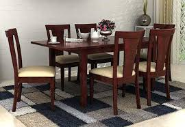 Dining Room Furniture India Wooden 6 Table Online Used Sets Indianapolis