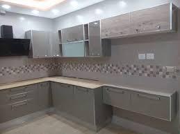 cuisine en kit cuisine facades grege avec chant alu cuisine en kit ben salem