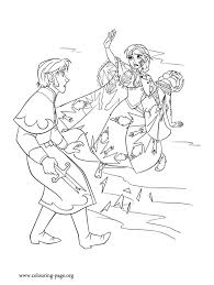 Anna Defends Her Sister Elsa To The Hanss Attack How About Print Out And Have Free Printable Coloring PagesFrozen
