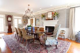 Pretty Dentil Molding Trend Philadelphia Traditional Dining Room Decorators With Antique Area Rug Ceiling Lighting Chandelier