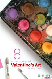 8 Montessori Art Activities For Valentines Day Or A Red Theme