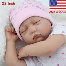Handmade Reborn Newborn Dolls Gift 22inch Lifelike Soft Vinyl