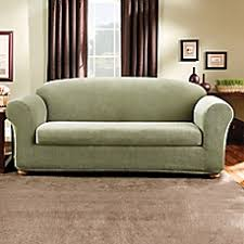 Sure Fit Sofa Slipcovers by Sure Fit Madison Stripe Furniture Slipcover Bed Bath U0026 Beyond