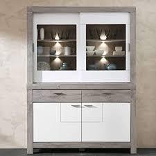lomadox esszimmer buffetschrank in weiß matt und haveleiche