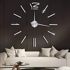 soledi wanduhr design diy 3d aufkleber spiegel wandtattoo ideale dekoration für wohnzimmer schlafzimmer büro