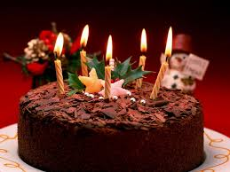 Beautiful Happy Birthday Chocolate Cake With Candles