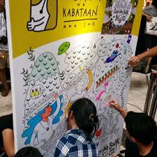 Inkies Coloring Away On The Oversized Panel Featuring Artwork Of Dom Ochotorena Ang InKredible