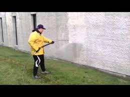 lavage pression mur crépi